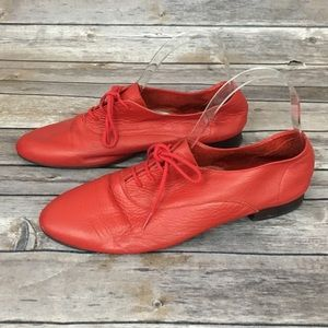 American Apparel Red Leather Oxford